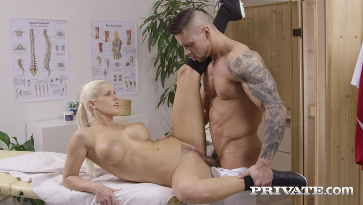 Blanche Bradburry receives an anal massage