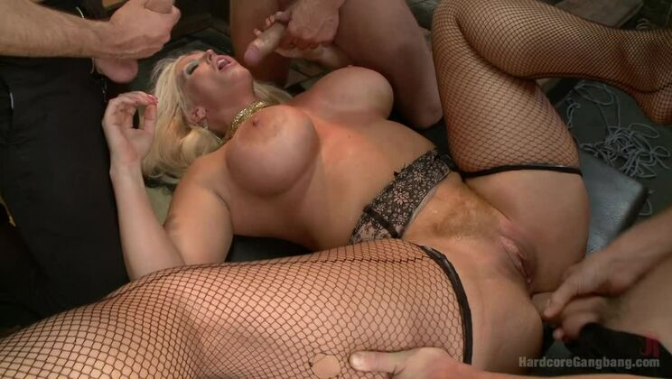 Desperate wife gets her gangbang fantasy fulfilled