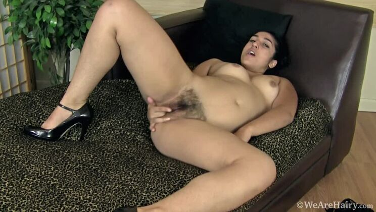 Hairy student Leila is turned on after dancing