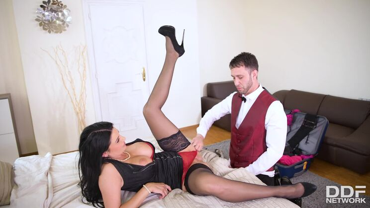 Busty Businesswoman's Desires