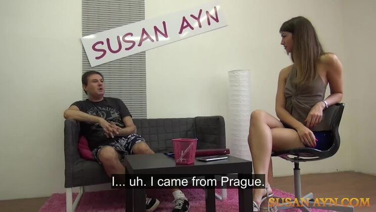 An enthusiastic newbie gives agent Susan a great fuck